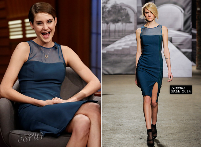 Shailene Woodley in Nonoo | 'Late Night with Seth Meyers'