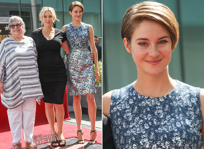 Shailene Woodley in PREEN | Kate Winslet's Hollywood Walk Of Fame Ceremony