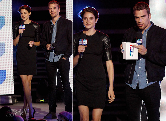 Shailene Woodley in Ralph Lauren & Theo James in Joe's Jeans | 2014 mtvU Woodie Awards and Festival