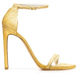 Stuart Weitzman NUDIST Orofoi Metallic Sandals