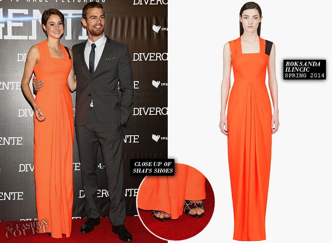 Shailene Woodley in Roksanda Ilincic & Theo James in Burberry Prorsum | 'Divergent' Mexico City Premiere