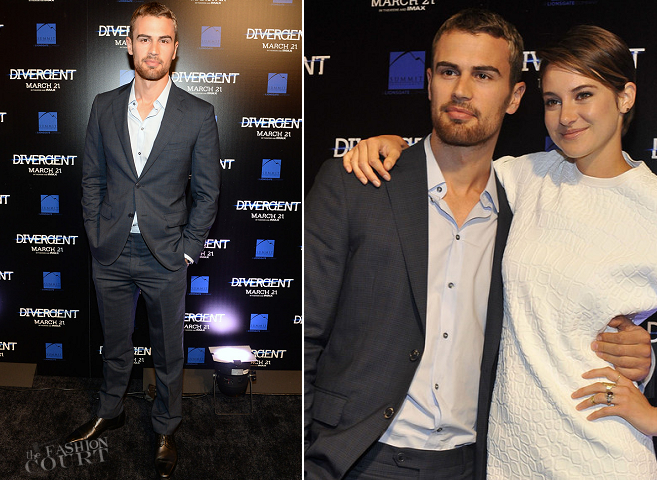 Theo James in Etro | 'Divergent' Atlanta Special Screening