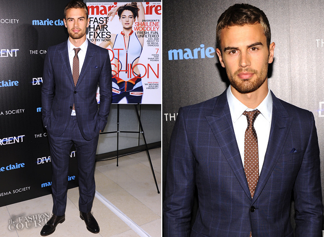 Theo James in Gucci | 'Divergent' NYC Screening