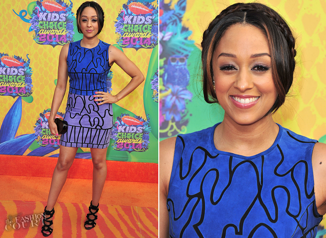 Tia Mowry in Versace | 2014 Kids' Choice Awards