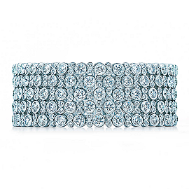 Tiffany & Co. Five-Row Diamond Bracelet