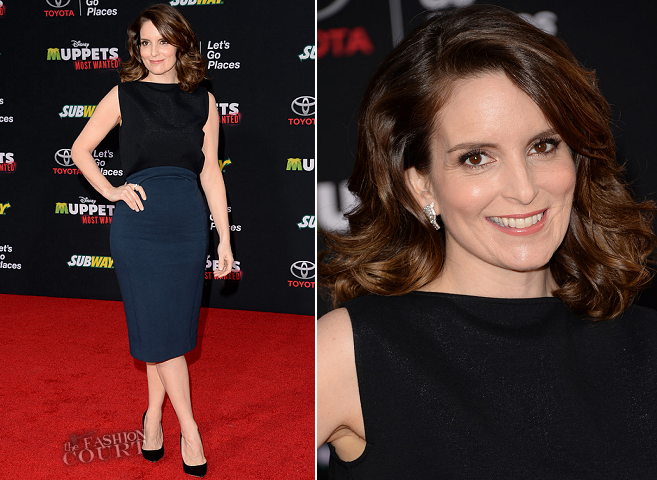 Tina Fey in Antonio Berardi | 'Muppets Most Wanted' Hollywood Premiere