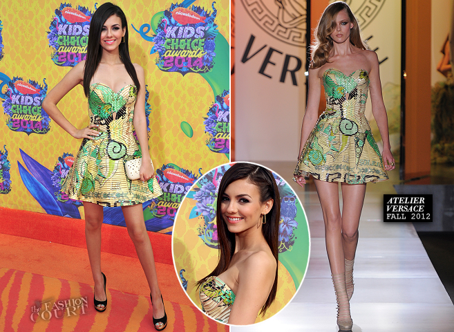 Victoria Justice in Atelier Versace | 2014 Kids' Choice Awards