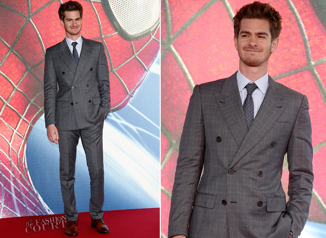 Andrew Garfield in Louis Vuitton | 'The Amazing Spider-Man 2: Rise Of Electro' Berlin Premiere