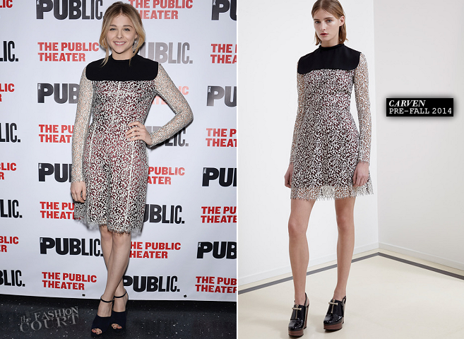 Chloë Grace Moretz in Carven | 'The Library' Opening Night