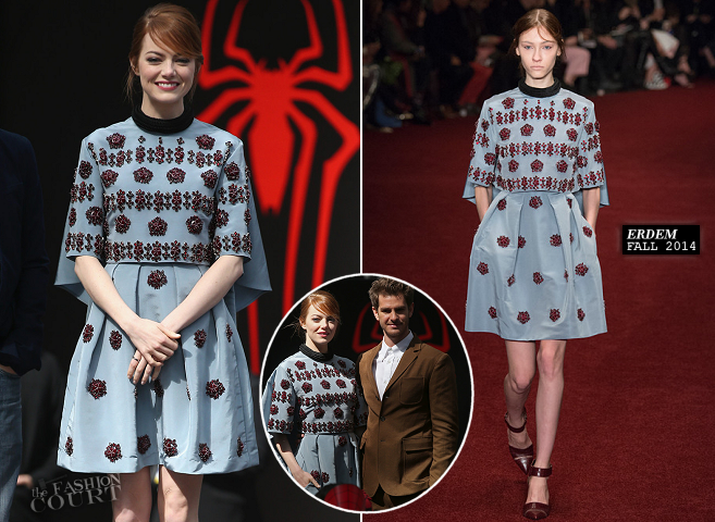 Emma Stone in Erdem | 'The Amazing Spider-Man 2' Berlin Photocall