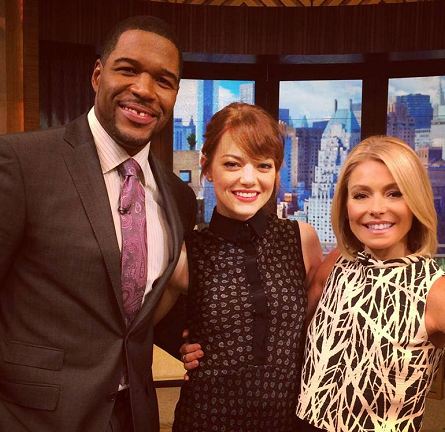 Emma Stone in Jason Wu | 'Live! with Kelly and Michael'