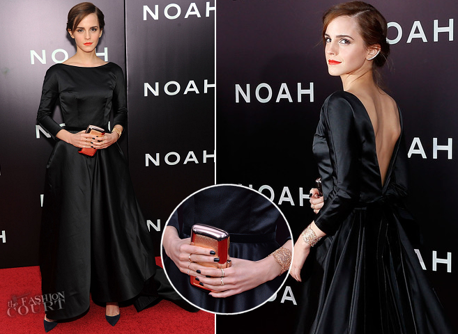 Emma Watson in Oscar de la Renta | 'NOAH' NYC Premiere