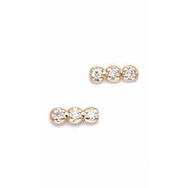 Ginette_NY Diams Strip Stud Earrings