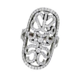 Jacob and Co. Lace Collection Ring with White Diamonds