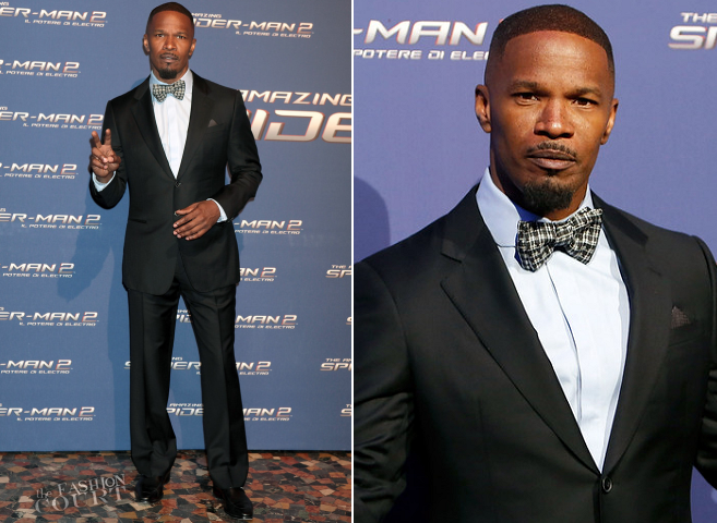 Jamie Foxx in Giorgio Armani | 'The Amazing Spider-Man 2: Rise Of Electro' Rome Premiere