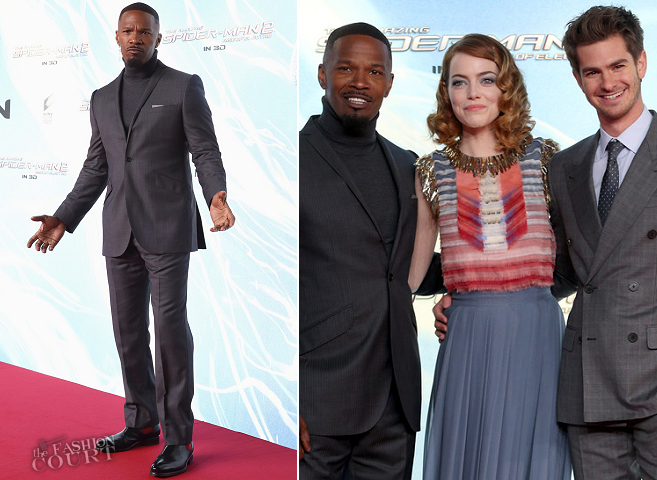 Jamie Foxx in Ozwald Boateng & Hugo Boss | 'The Amazing Spider-Man 2' Berlin Premiere