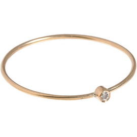 Jennifer Meyer Thin Diamond Gold Ring