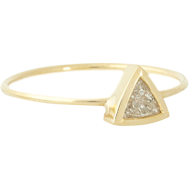 Jennifer Meyer Trillion Diamond Ring