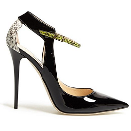 Jimmy Choo 'Maiden' Point Toe Ankle Strap Pump