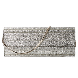 Jimmy Choo 'Sweetie' Metallic Glitter Clutch