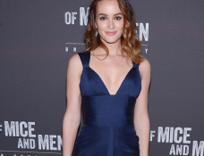 Leighton Meester in Versace | 'Of Mice And Men' Broadway Opening Night