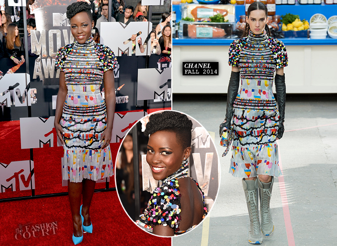 Lupita Nyong'o in Chanel | 2014 MTV Movie Awards