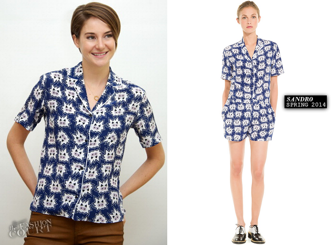 Shailene Woodley in Sandro | 'The Fault In Our Stars' Press Conference