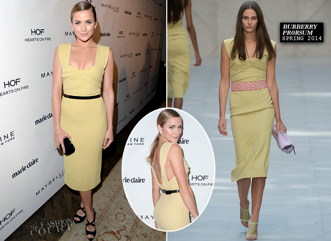 Shantel VanSanten in Burberry Prorsum | Marie Claire's Fresh Faces Party 2014