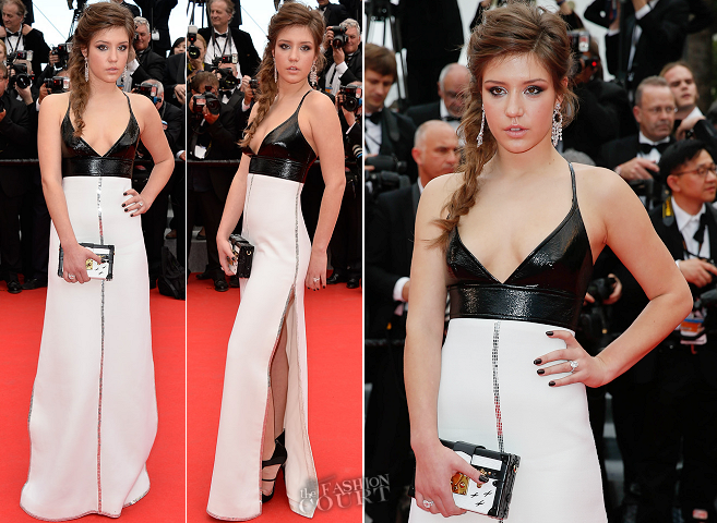 Adèle Exarchopoulos in Louis Vuitton | 'Grace of Monaco' Premiere - 2014 Cannes Film Festival Opening Ceremony