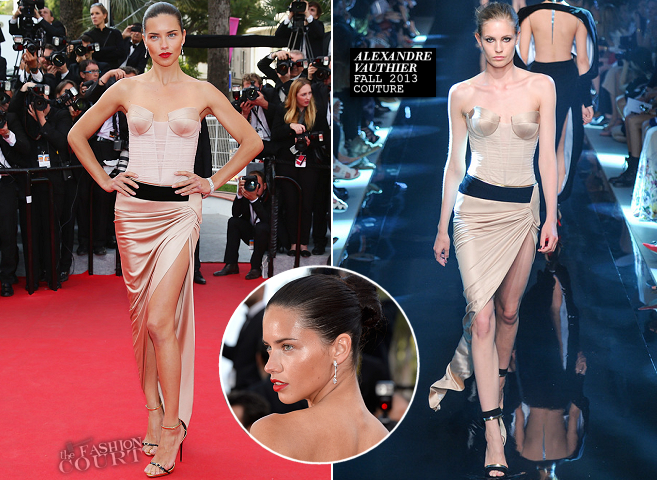 Adrianna Lima in Alexandre Vauthier Couture | 'The Homesman' Premiere - 2014 Cannes Film Festival