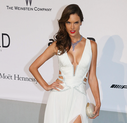 Alessandra Ambrosio in Roberto Cavalli | amfAR's Cinema Against AIDS Gala 2014