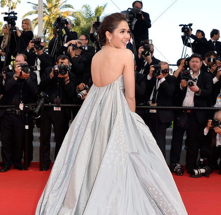 Araya A. Hargate in Zac Posen | 'Clouds of Sils Maria' Premiere - 2014 Cannes Film Festival