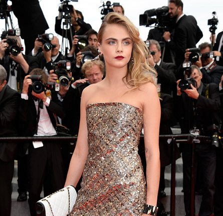 Cara Delevingne in Chanel Couture | 'The Search' Premiere - 2014 Cannes Film Festival