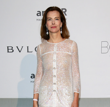 Carole Bouquet in Chanel Couture | amfAR's Cinema Against AIDS Gala 2014