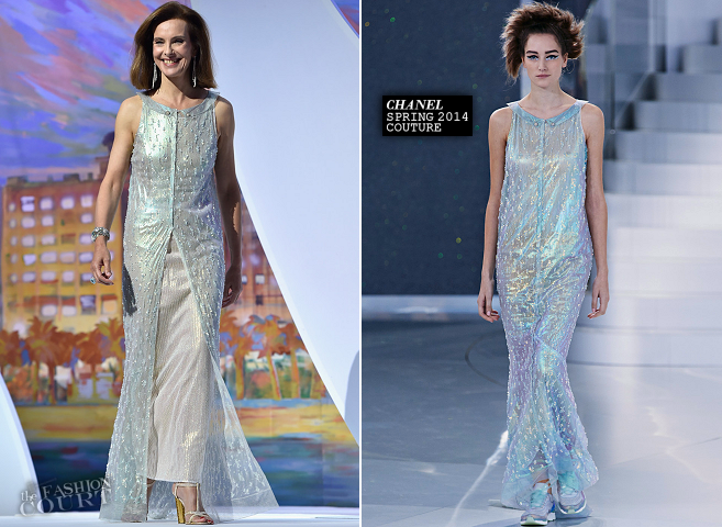 Carole Bouquet in Chanel Couture | 2014 Cannes Film Festival Closing Ceremony