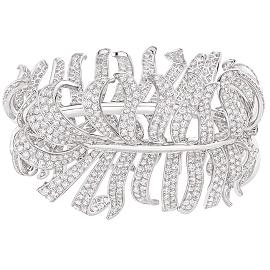 Chanel Fine Jewelry 1932 White Diamond Plume Bracelet