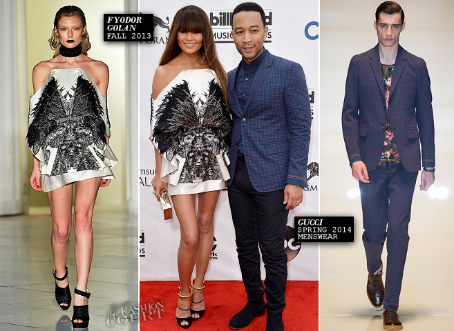 Chrissy Teigen in Fyodor Golan & John Legend in Gucci | 2014 Billboard Music Awards