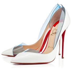 Christian Louboutin 'Miss Rigidaine' Pumps in Aquamarine PVC