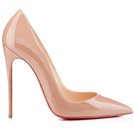 Christian Louboutin 'So Kate' 120mm Nude Patent Pumps
