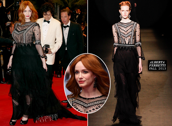 Christina Hendricks in Alberta Ferretti | 'Lost River' Premiere - 2014 Cannes Film Festival