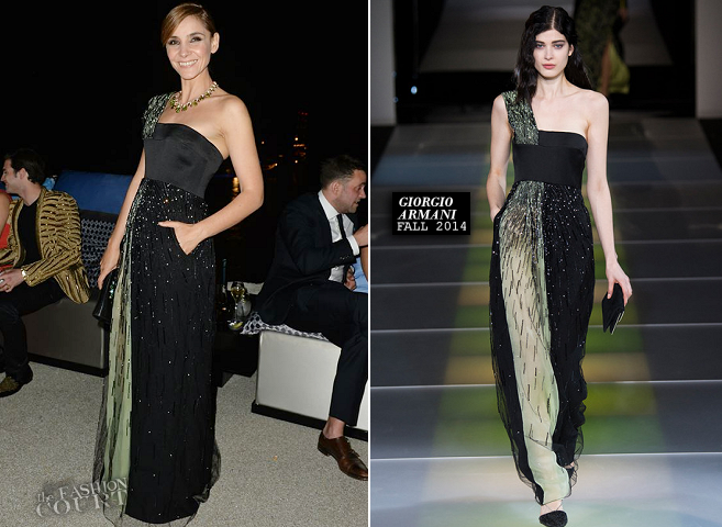 Clotilde Courau in Giorgio Armani | Vanity Fair & Armani Party – 2014 Cannes Film Festival