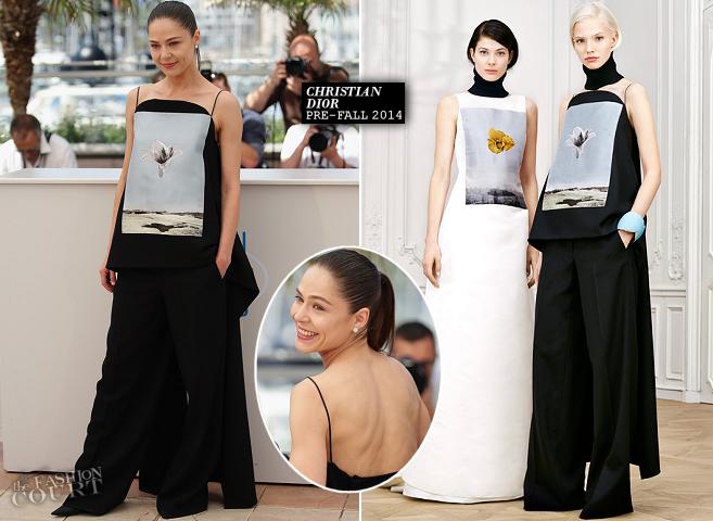 Elena Lyadova in Dior | 'Leviathan' Photocall - 2014 Cannes Film Festival