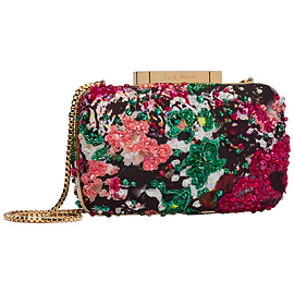 Elie Saab Spring 2014 Embroidered Minaudiere Clutch