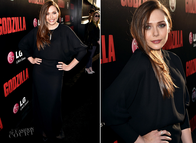 Elizabeth Olsen in Chloé | 'Godzilla' LA Premiere