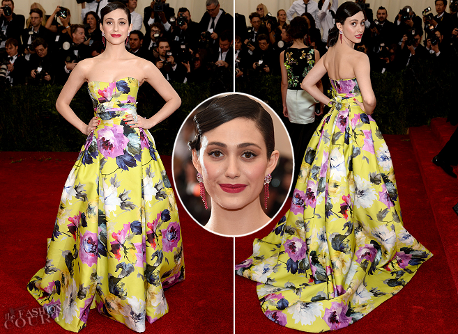 Emmy Rossum in Carolina Herrera | MET Gala 2014