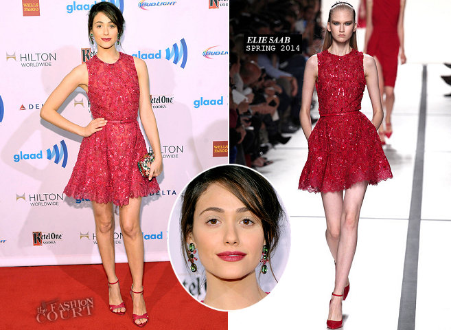Emmy Rossum in Elie Saab | 2014 GLAAD Media Awards