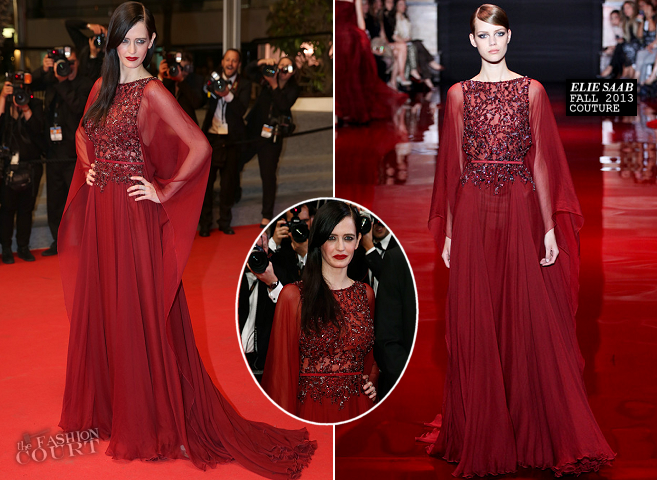 "Eva Green in Elie Saab Couture | ""The Salvation"" Premiere - 2014 Cannes Film Festival"