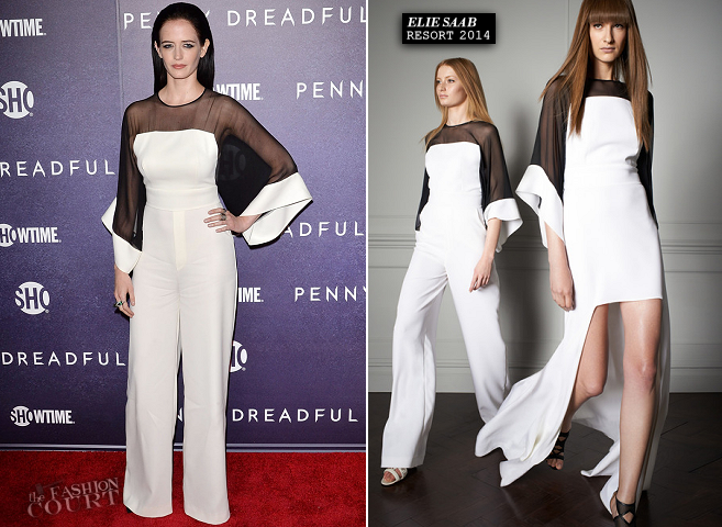 Eva Green in Elie Saab | 'Penny Dreadful' NYC Premiere