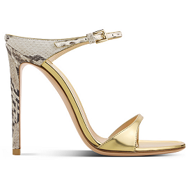 Gianvito Rossi Spring 2014 Adamant Python and Gold Mule