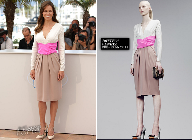 Hilary Swank in Bottega Veneta | 'The Homesman' Photocall - 2014 Cannes Film Festival